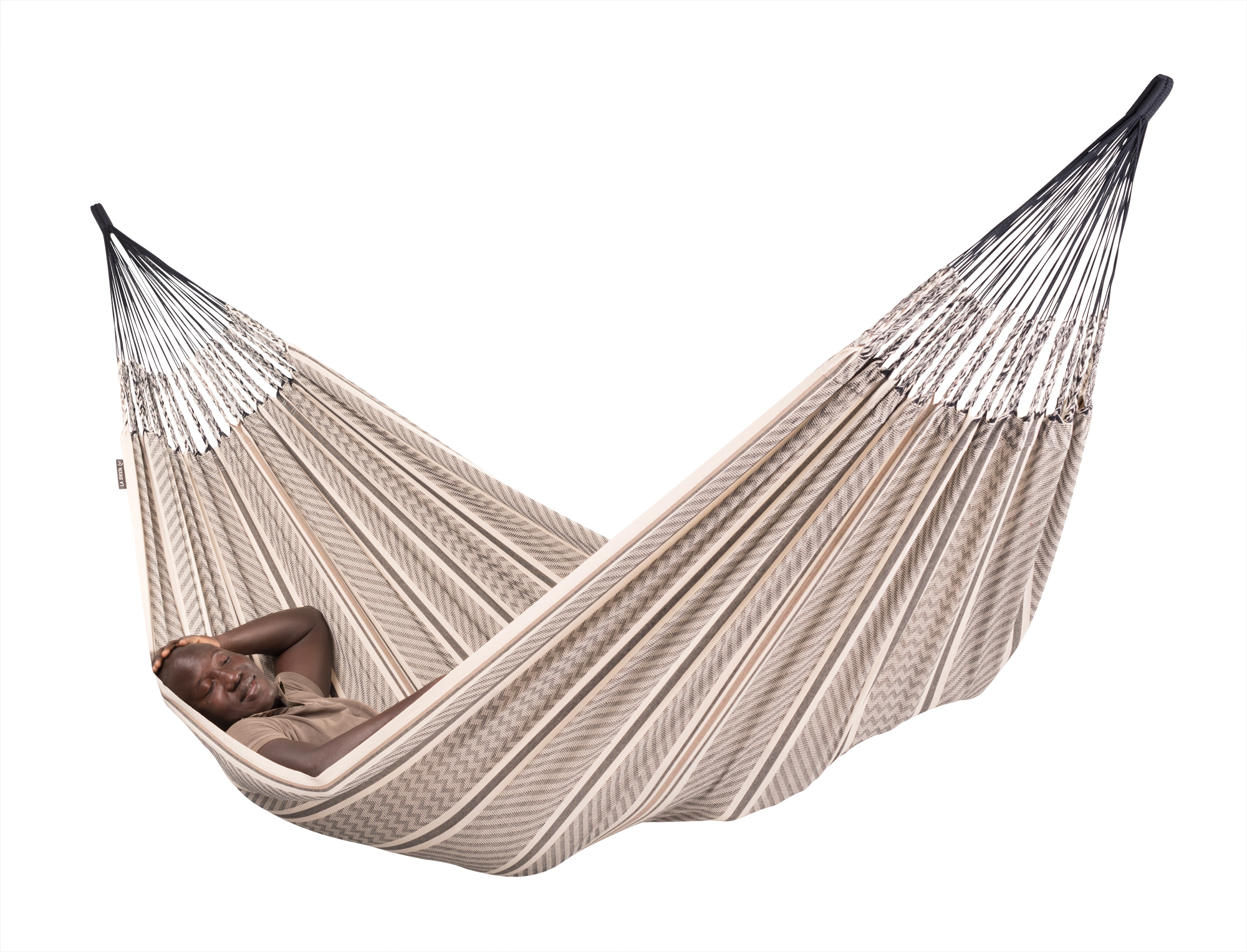 First La Siesta GOTS certified hammock made 100% of Colombian organic cotton, 2016