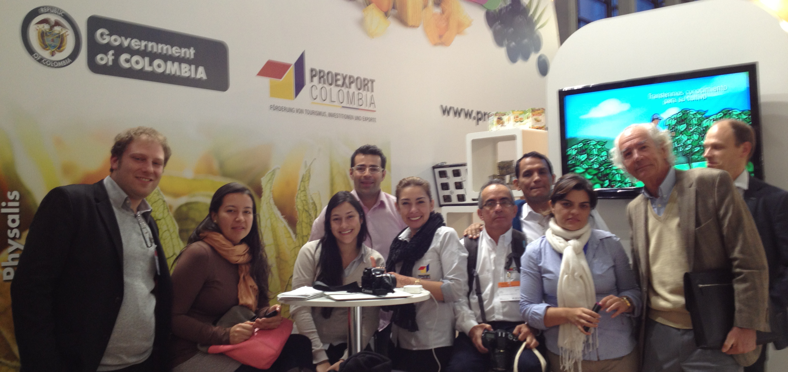 With Colombian Team at BioFach, Nürnberg, Germany 2013