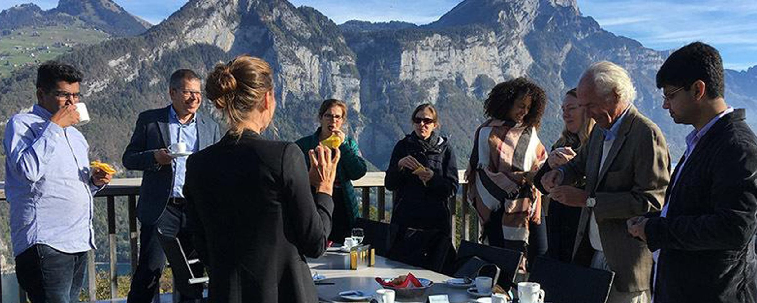 Excursion with executives of ecos, Swiss Textiles and visitors, Vierwaldstätter, Switzerland, 2018