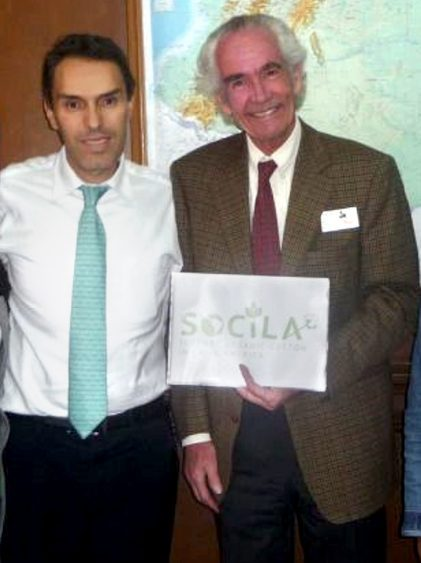 With Ricardo Sánchez, Vice-Minister of Agriculture, Bogotá Colombia 2010